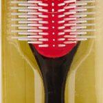 Denman D4 – Cepillo (9 filas), color negro y rojo