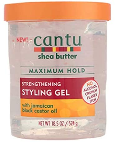 Cantu Shea Butter Gel de peinado fortalecedor de fijación máxima, 524 g