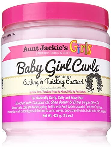Aunt Jackies Baby Girl Curls Curling and Twisting Custard 15oz by Aunt Jackie's