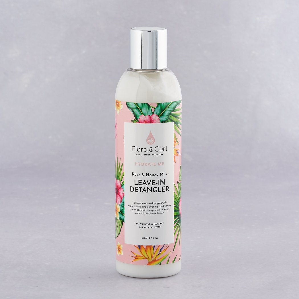 Desenredante Flora & Curl Organic Rose & Honey Milk Detangler