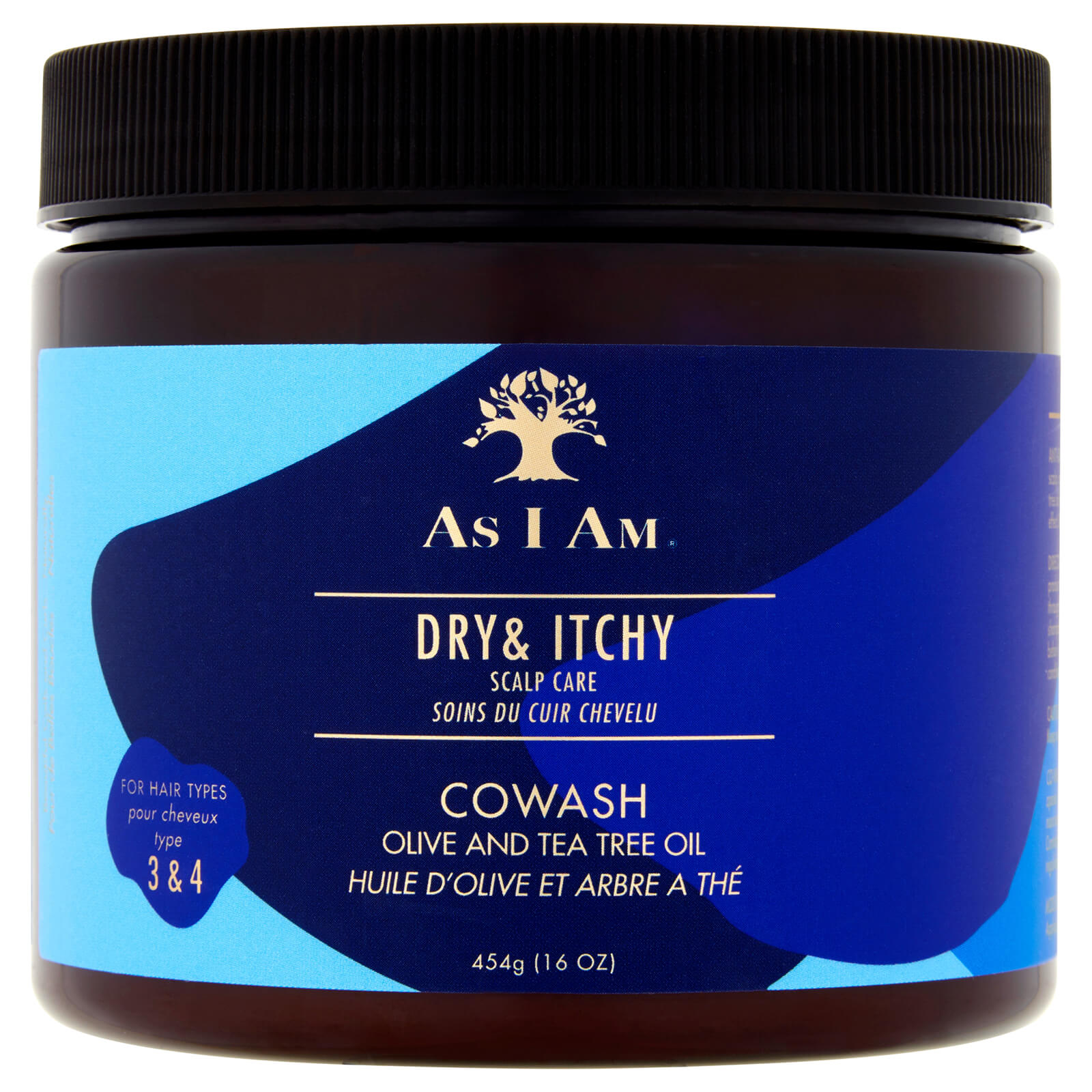 As I Am Dry and Itchy Scalp Care Olive and Tea Tree Oil Co-Wash 454g